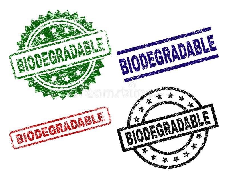 Beschadigde Geweven BIOLOGISCH AFBREEKBARE Zegelverbindingen royalty-vrije illustratie