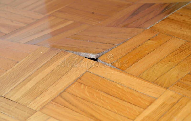 Beschadigde houten vloer royalty-vrije stock foto's