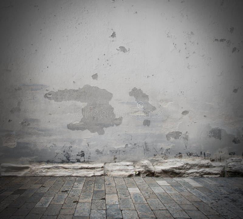 Beschadigde muurachtergrond stock afbeeldingen
