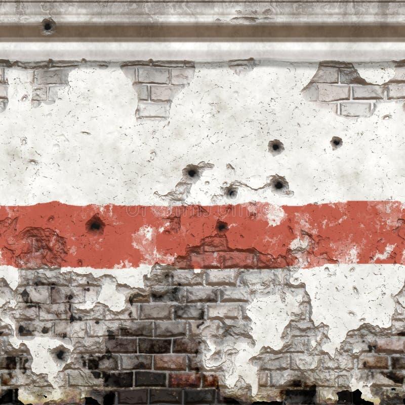 Beschadigde oude Muur stock illustratie