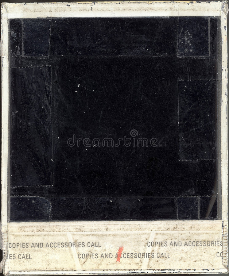 Beschadigde Polaroid- Rug stock afbeelding