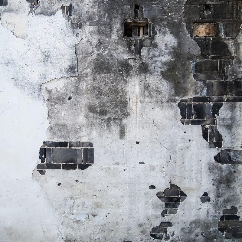 Beschaffenheit der alter Zementbetonmauer und -ziegelsteines stockbild