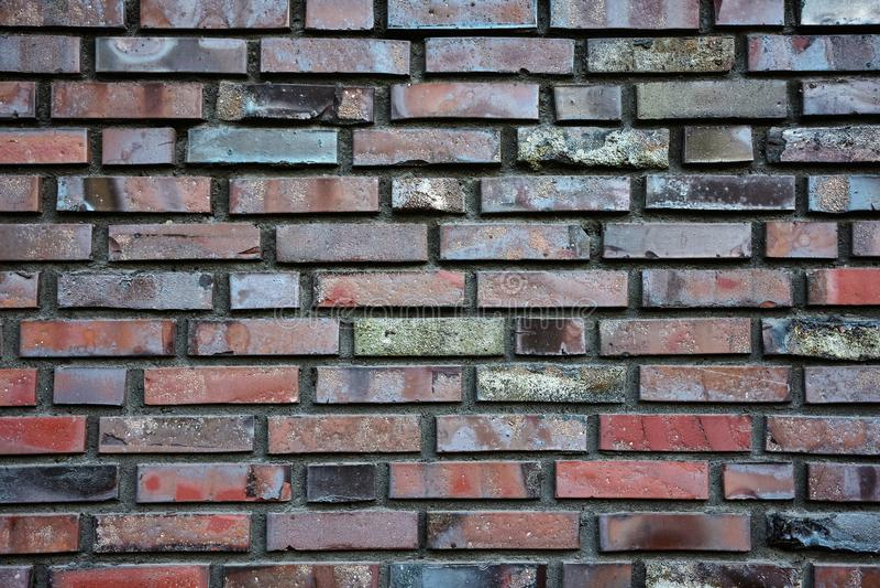 Beschaffenheit der Backsteinmauer lizenzfreie stockfotos