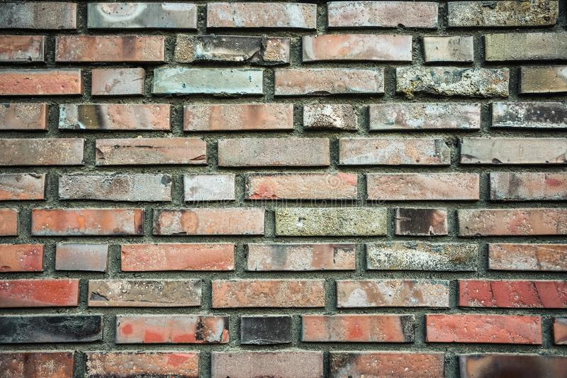 Beschaffenheit der Backsteinmauer stockbild