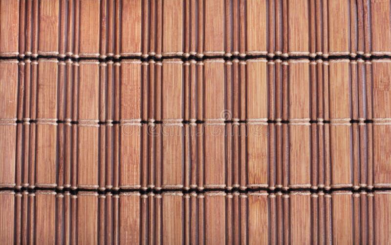 Beschaffenheit der Bambusmatte lizenzfreie stockbilder