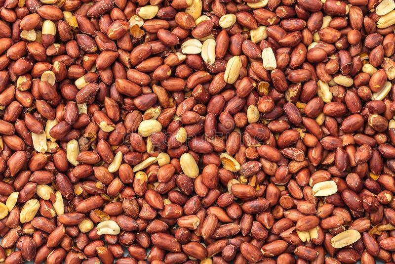 Beschaffenheit der gebratenen Erdnussnahaufnahme stockfoto