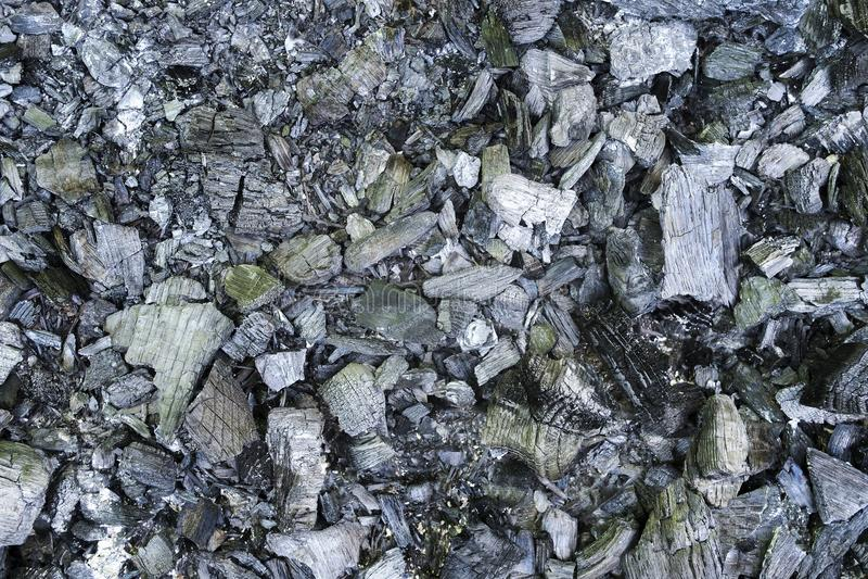 Beschaffenheit der Kohle nach dem Feuer lizenzfreie stockfotografie