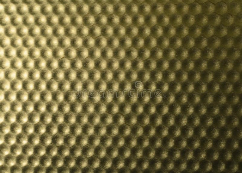 Beschaffenheit der Metalloberflächenform der Bienenwaben stockbild