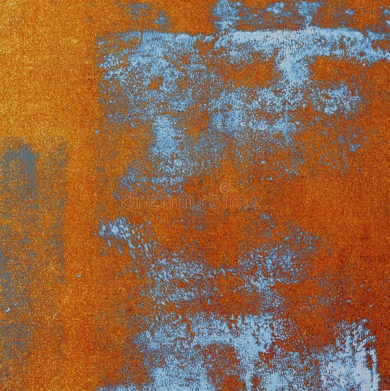 Beschaffenheit der orange und Blaupause lizenzfreies stockfoto