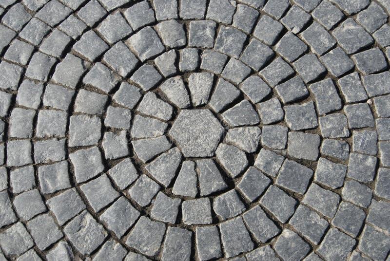 Beschaffenheit der Steinplasterung stockbild