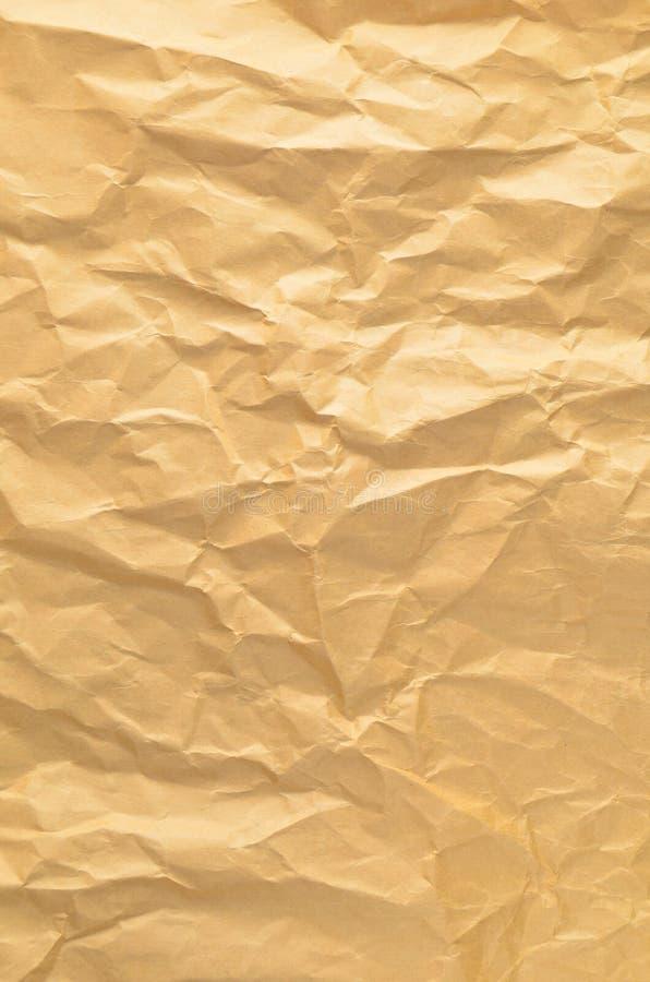 Beschaffenheit der zerknitterten alten Papiernahaufnahme lizenzfreie stockfotografie