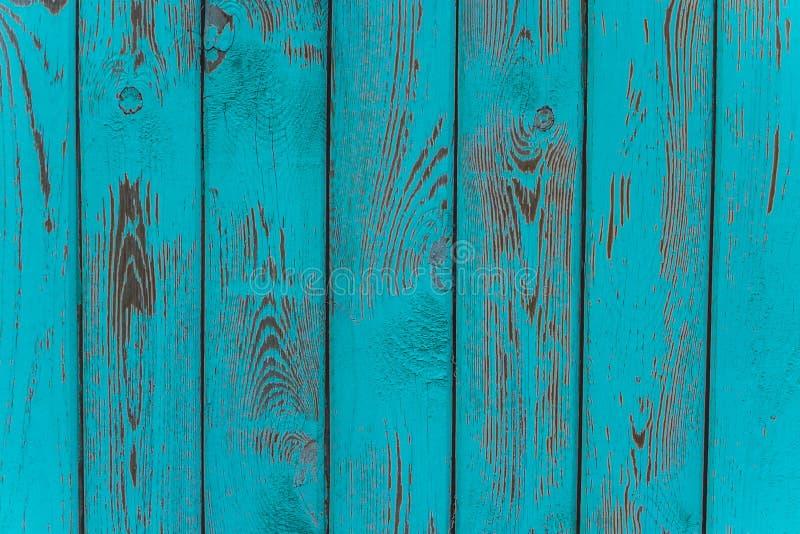 Beschaffenheit des alten blauen grünen Baums Hölzerner Beschaffenheitshintergrund mit Verschleiß, Kratzer stockbild
