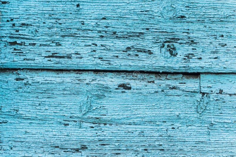 Beschaffenheit des alten blauen grünen Baums Hölzerner Beschaffenheitshintergrund mit Verschleiß, Kratzer lizenzfreie stockfotografie