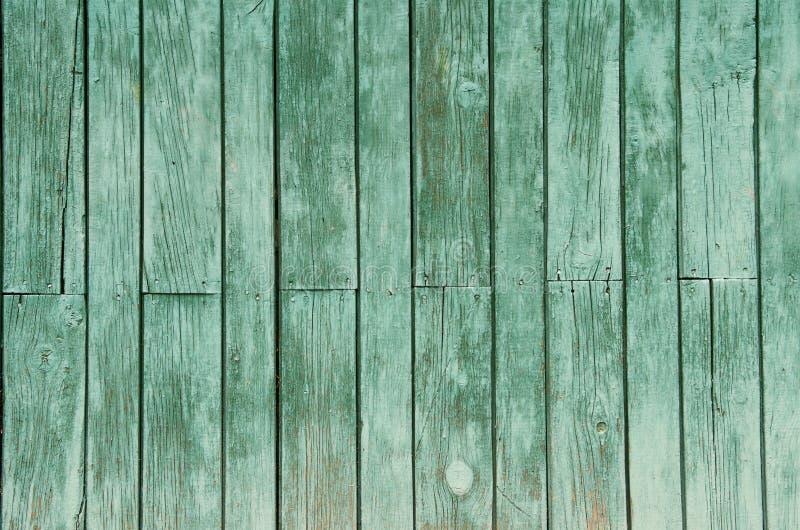 Beschaffenheit des alten grünen Hintergrundes der hölzernen Bretter stockfotografie
