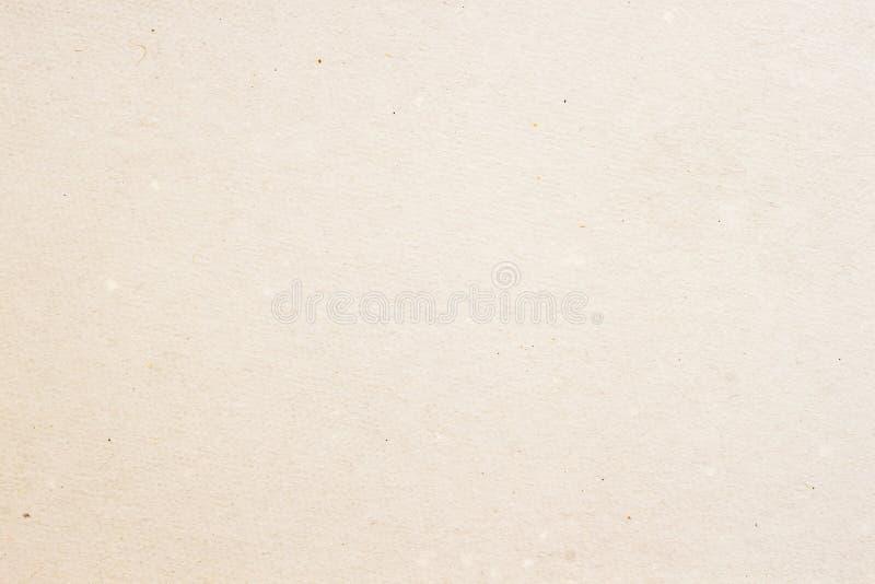 Beschaffenheit des alten organischen Papiers der hellen Creme, Hintergrund für Design mit Kopienraumtext oder Bild Wertstoff stockfotografie