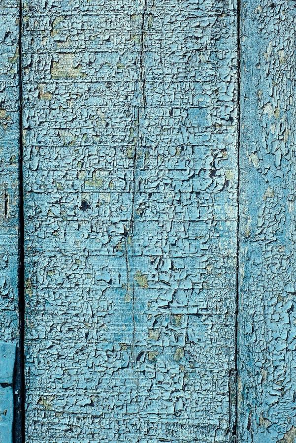 Beschaffenheit des alten rostigen Holzes, gemaltes Blau mit Stellen der ersten hölzernen Schicht lizenzfreie stockbilder