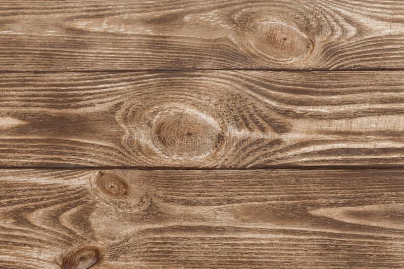 Beschaffenheit des braunen Holzes Drei Vorstände entziehen Sie Hintergrund Leere Schablone lizenzfreies stockbild