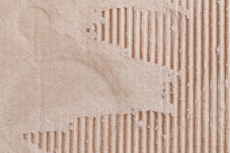 Beschaffenheit des braunen Papierkastens oder der Pappe mit zerrissen lizenzfreies stockbild