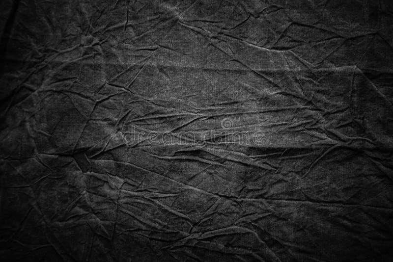 Beschaffenheit des dunkelgrauen zerknitterten Gewebes lizenzfreie stockfotografie