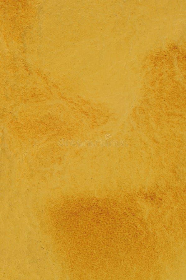 Beschaffenheit des gelben leahter stockfotografie