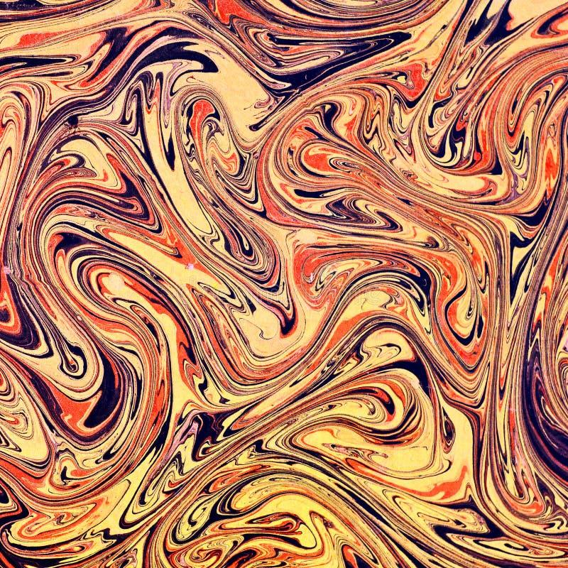 Beschaffenheit des gemarmorten Papiers Künstlerisches ebru dekorative Papierverzierung vektor abbildung