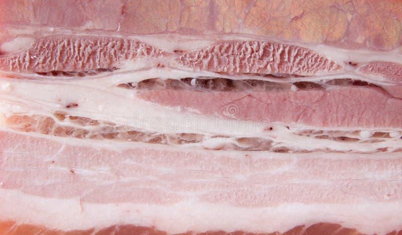 Beschaffenheit des geräucherten Schweinefleisch stockfoto