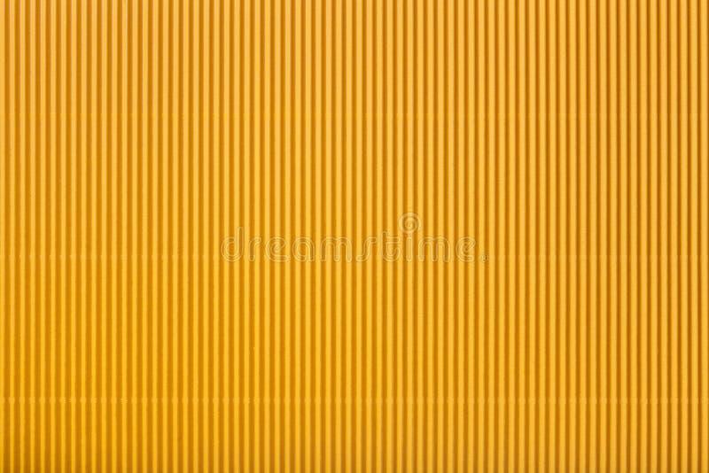 Beschaffenheit des gewölbten gelben Papiers, Makro stock abbildung