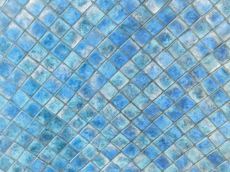 Beschaffenheit des kleinen quadratischen Keramikziegels stockfotografie