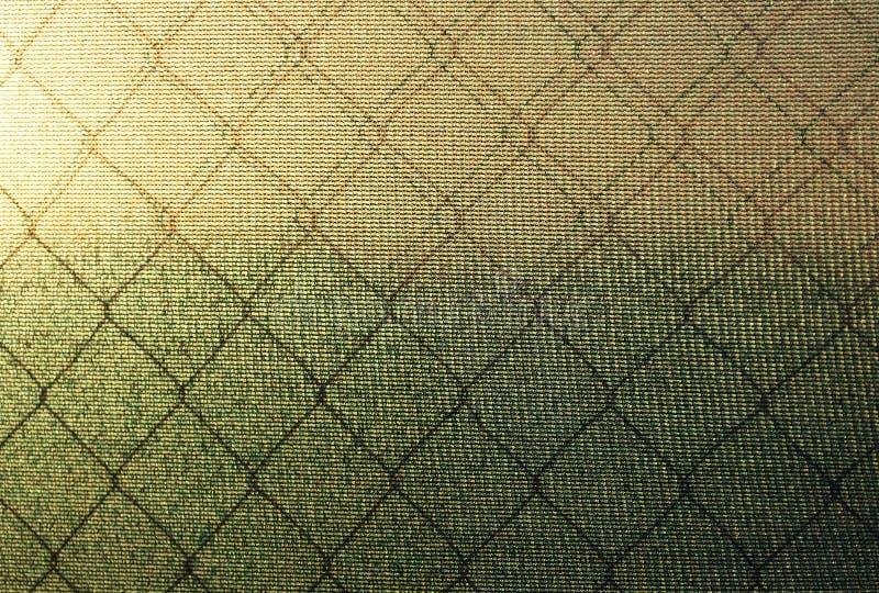 Beschaffenheit des Polycarbonats und mit Maschenfiletarbeit gegen den Hintergrund lizenzfreie stockfotografie