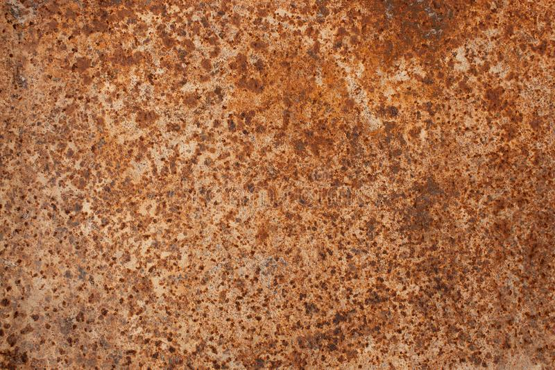 Beschaffenheit des rostigen Eisens Die Ansicht von der Oberseite lizenzfreie stockbilder