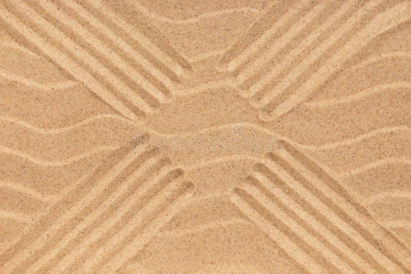 Download Beschaffenheit Des Sandes Mit Vier Linien Stockbild - Bild von dünen, makro: 96925539