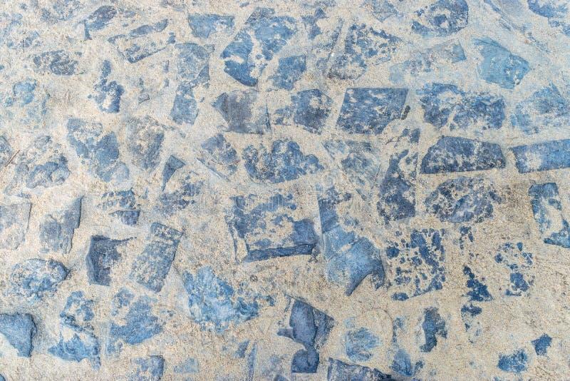 Beschaffenheit des Steins mit Sand für Pflasterung stockfoto