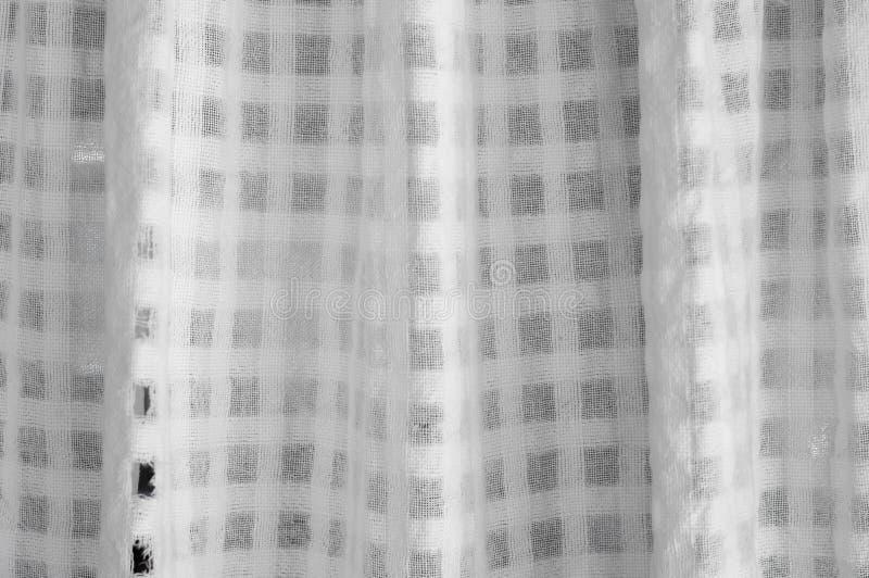 Beschaffenheit des weißen Vorhangs lizenzfreies stockfoto