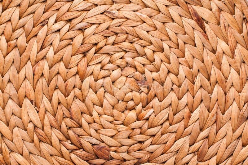 Beschaffenheit des Weidenkorbes stockfotografie