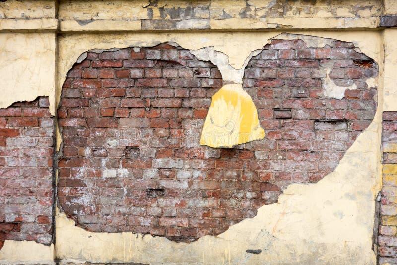 Beschaffenheit einer alten Wand stockfotografie