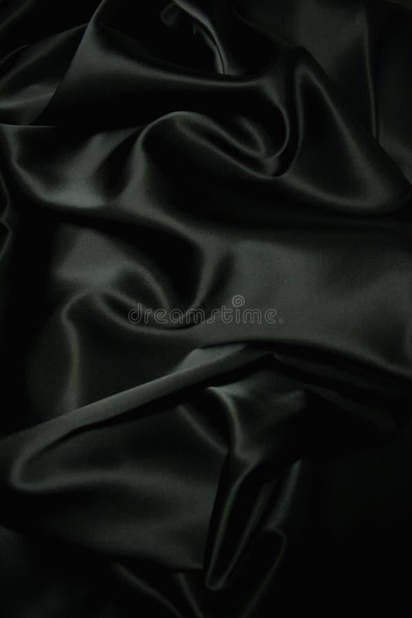 Beschaffenheit einer schwarzen Seide stockfoto