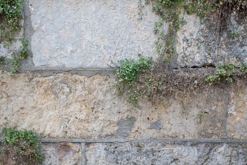 Beschaffenheit einer Wand hergestellt von den großen Felsen stockbild