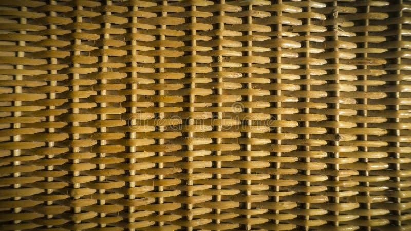 Beschaffenheit eines geflochten Weidenkorbes Ein Hintergrund, Makro stockfotografie