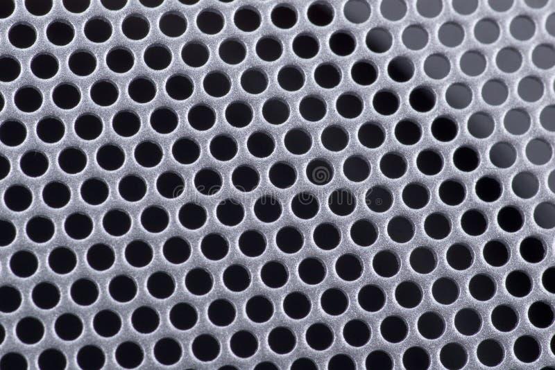 Beschaffenheit eines perforierten Metalls stockbild