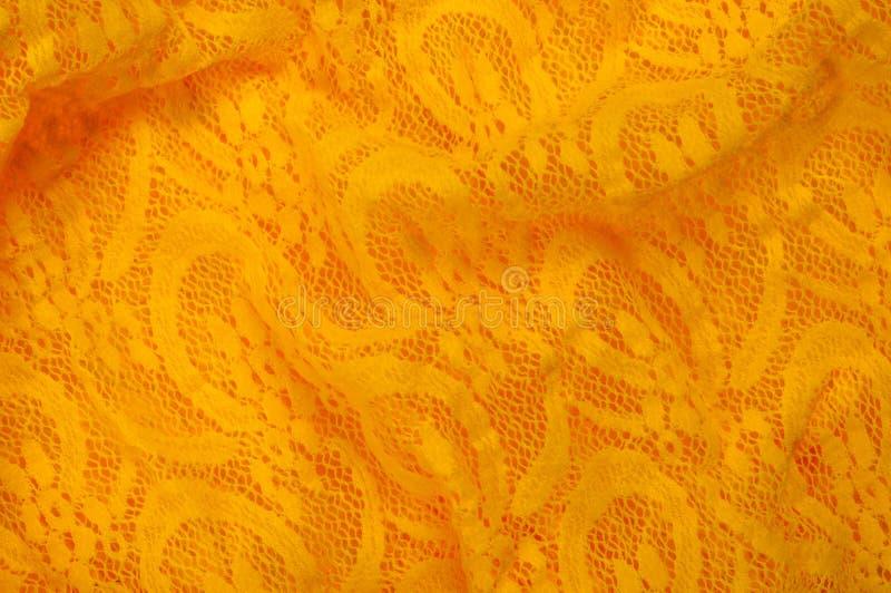 Beschaffenheit, Gewebe, Hintergrund Lacy Yellow-Gewebe, Spitze Ein dünnes OP lizenzfreies stockbild