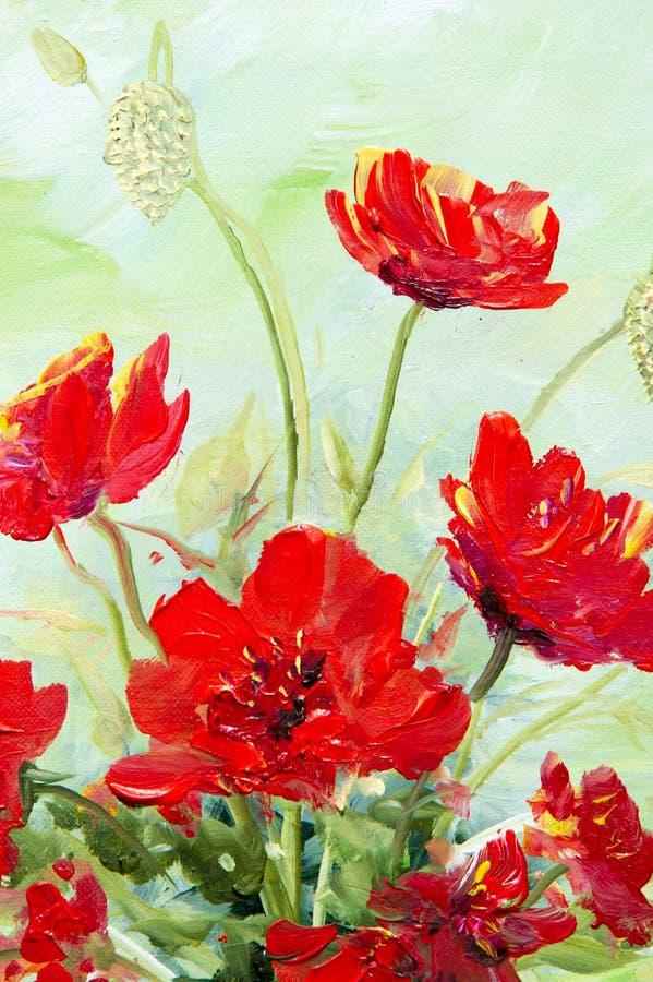 Beschaffenheit, Muster, Segeltuch gemalt in den Ölen Es malte ein Bild O stockfotografie