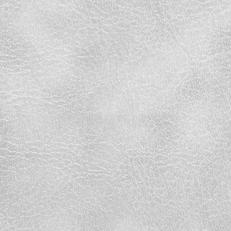 Beschaffenheit und Hintergrund des weißen Leders nahtlos lizenzfreie stockfotografie
