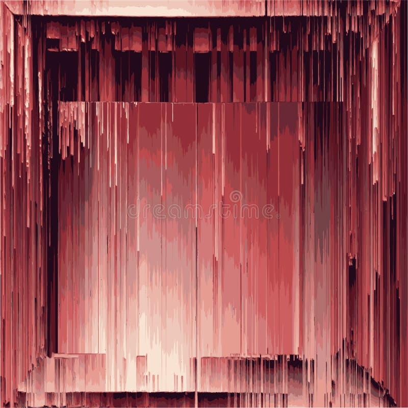 Beschaffenheit von alten architektonischen hölzernen Dekorelementkrümeln zu den Pixeln von oben bis unten stock abbildung