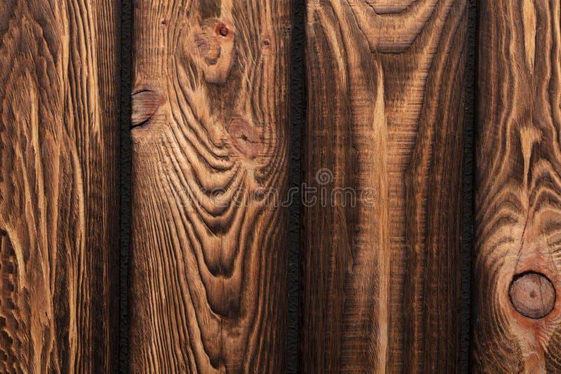 Beschaffenheit von Brettern des dunklen alten braunen Holzes lizenzfreies stockbild