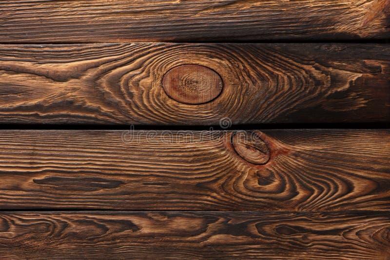Beschaffenheit von Brettern des dunklen alten braunen Holzes lizenzfreie stockfotos