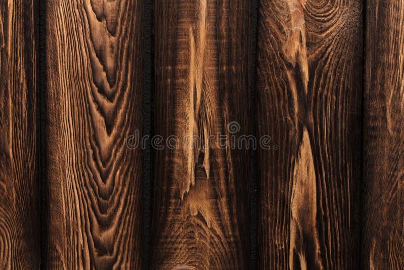 Beschaffenheit von Brettern des dunklen alten braunen Holzes lizenzfreies stockfoto