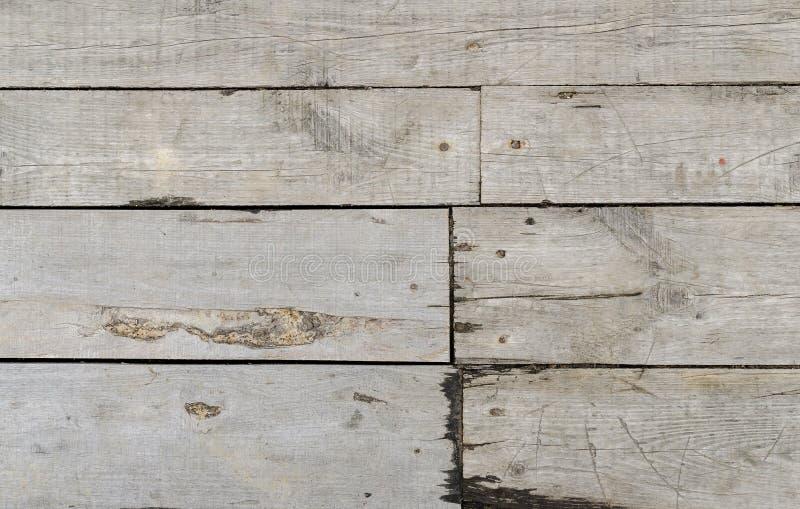 Beschaffenheit von grauen hölzernen Planken lizenzfreie stockfotos