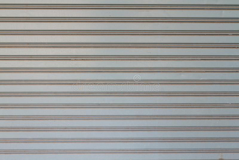 Beschaffenheit von Gray Rolling Steel Doors stockbild