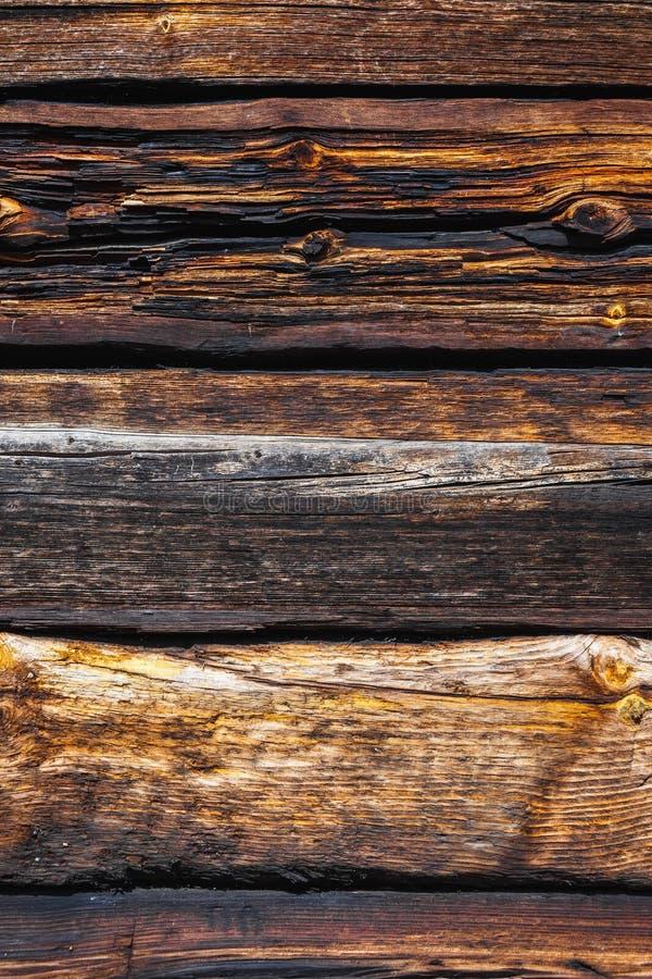 Beschaffenheit von großen Klotz eines Holzhauses stockbilder