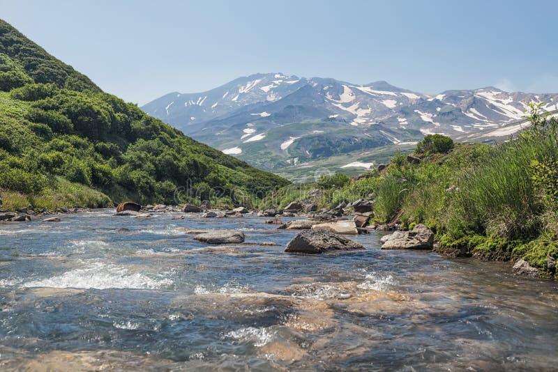 Beschaffenheit von Kamchatka Landschaften und ausgezeichnete Ansichten des Kam lizenzfreies stockfoto